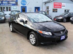 2012 Honda Civic Cpe LX| NO ACCIDENTS|NO RUST| MUST SEE| 122 KM