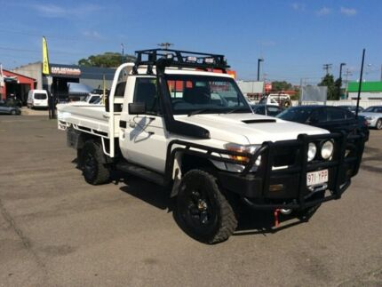 TOYOTA LANDCRUISER WORKMATE  VDJ76R 2014 WHITE  5 SPEED 5DRS 4.5DT V8   GOOD  CONDITION LONG  SNORKE Lansvale Liverpool Area Preview