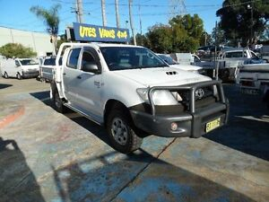 2010 Toyota Hilux KUN26R 09 Upgrade SR (4x4) White 5 Speed Manual Dual Cab Chassis Homebush West Strathfield Area Preview