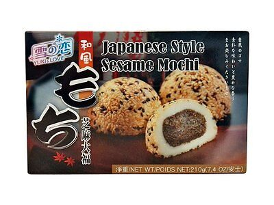 Japan Dessert (japanischer Reiskuchen Sesam Mochi Spezialität Nachtisch Dessert sesammochi 210g)