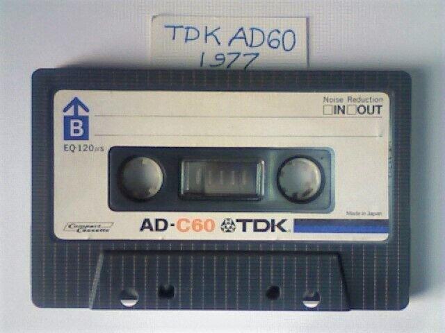 I  1982    BLANK CASSETTE TAPE TDK  AD     60    VINTAGE VS 1 SEALED