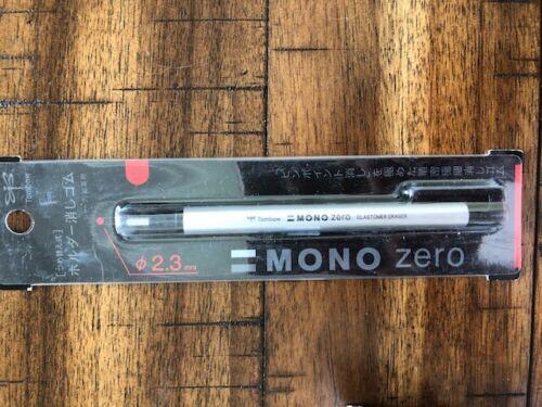 Tombow MONO Zero Eraser, Round Tip, Retractable, Silver Barrel