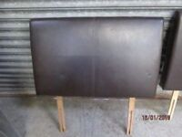 *+*SINGLE ( 3 feet wide )PADDED BROWN FAUX LEATHER HEADBOARD/GOOD CONDITION/delivery available*+*