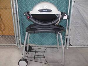 RECONDITIONED WEBER BABY-Q *on trolley with gas bottle Sydenham Marrickville Area Preview