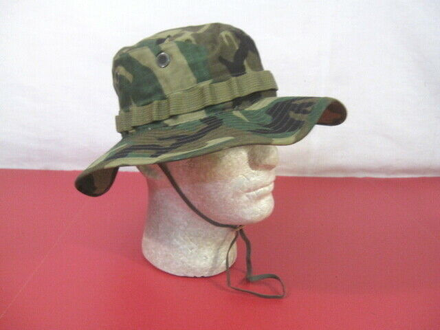 Vietnam US Army ERDL Camouflage Ripstop Boonie Hat - Size 7 1/2 - MINT Unissued