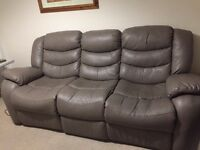 Sofa to give away (3 seat and 1 Arm chair, manual recliner)