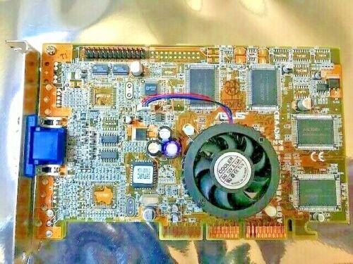 Asus V6800 Ddr Pure Nvidia Geforce 256 32mb Agp Video Card Rev 1.01 Vga Out