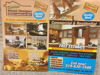 Cedar Wood Designs – Custom Made Kitchen Cabinets and More!
