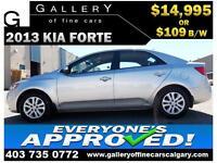 2013 Kia Forte LX $109 bi-weekly APPLY TODAY DRIVE TODAY