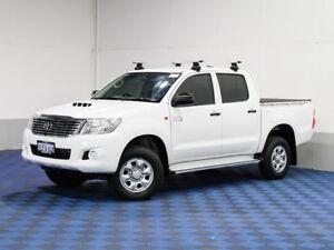 2013 Toyota Hilux KUN26R MY12 SR (4x4) White 5 Speed Manual
