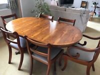Regency Style Dining Table and 6 Chairs