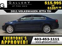 2011 VW JETTA  HIGHLINE DIESEL*EVERYONE APPROVED* $0 DOWN$109/BW