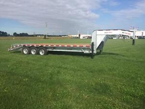 "Galvanized 20' x 5"" Deck Over Gooseneck Trailer (K-DKOGON20)"