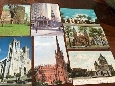 7 EPISCOPAL CHURCH POSTCARDS
