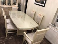 Dinning table & 6 chairs (Italian style)