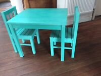 Kids Scandinavia Table and 2 Chairs - Painted Pine