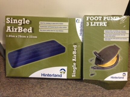 AIRBED (Single) & Footpump (3L) Melbourne City Preview