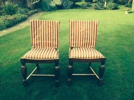 2 matching 1920's oak chairs