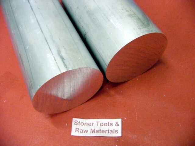 """2 Pieces 2"""" ALUMINUM 6061 ROUND ROD SOLID BAR 9"""" long New Extruded Lathe Stock"""