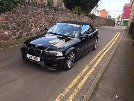 BMW 330ci, BLACK, M SPORT, MANUAL, 2002, CONVERTIBLE, MOT, HISTORY.