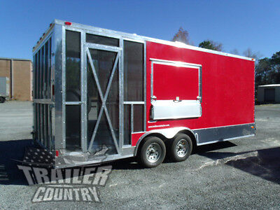 New 2019 8.5x22 V Nose Enclosed Cargo Concession Vending Trailer W Porch