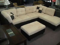 BRAND NEW SECTIONAL WITH STORAGE OTTOMAN