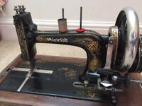 Highly decorative vintage sewing machine with decorative case ( made by Dietrich)