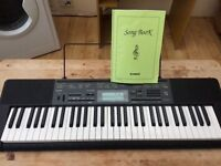 Casio CTK-2200 Keyboard with AC Adapter, Stand, Songbook and Pedal