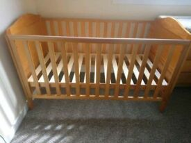 Unused Mothercare cotbed - excellent condition