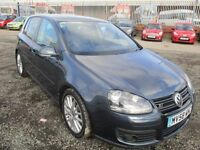 58 Volkswagen Golf Diesel Hatchback 2.0 Tdi 140 Gt 5Dr [Leather] FULL SERVICE HISTORY FULLY LOADED