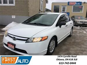 2008 Honda Civic Sdn DX-G - No Accidents! - Amazing On Gas!