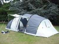 Large 8 berth tent + hard shell car top box with fixings and various camping equipment