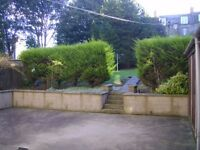One bedroom ground floor flat in a four flatted property for rent.