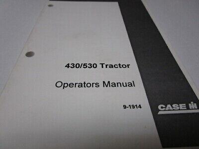 Case Ih 430530 Tractor Operators Manual