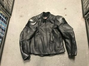 Dainese Leather Jacket Black Titanium size 48 Euro 38 US Small