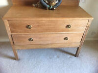 Lightwood chest suitable for bedroom/living room/study/sewing room