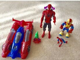 Spider-Man Car spaceship and figures