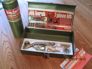JET TORCH Propane Blow 7 Piece Kit in Metal Box BERNZOMATIC