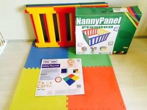 TikkTokk Nanny Panel Playpen with foam mat Fairlight Manly Area Preview