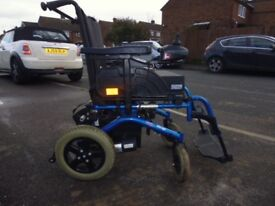 invacare mirage electric power chair wheelchair fold up serviced new batteriesfree delivery vgc