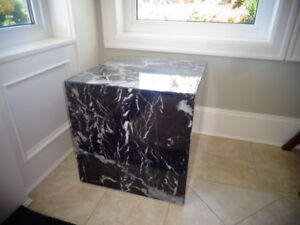 Granite sofa table and occasional table