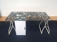 4 x Glasholm Ikea desk with legs and cupboard