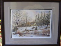 Limited Edition Springwater Park s/n Peter Robson Print - Framed