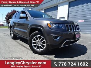 2016 Jeep Grand Cherokee Limited ACCIDENT FREE w/ 4X4, LEATHE...