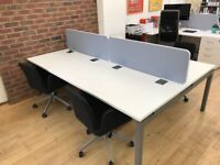 Large Bench Desk With Dividers (Suitable for 4 People)
