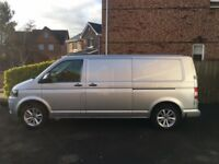 VW Transporter T30 180 TDI LWB - Silver. Excellent Condition