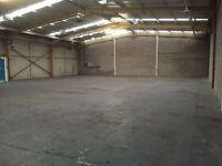 Secure Large Workshop with external roller shutter door available to rent