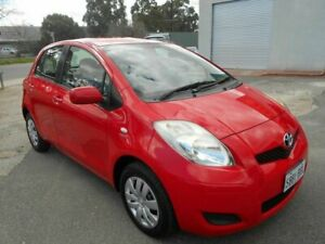 2008 Toyota Yaris NCP90R YR Red 5 Speed Manual Hatchback Woodville Charles Sturt Area Preview