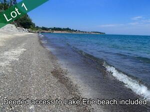 115 x 290 Estate Lot #1 at Lake Erie, Dunnville +Water Access
