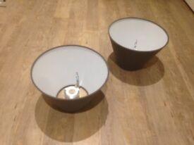IKEA Ollsta lamp shade, 25cm diameter, grey/brown color